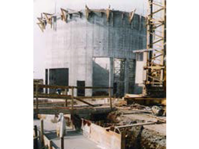 Baubeginn Radarturm